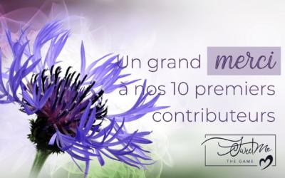 Un grand merci à nos 10 premiers contributeurs