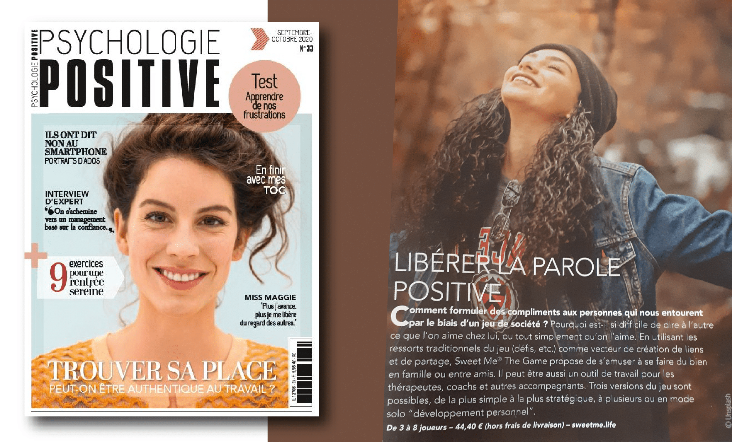 Le magazine Psychologie Positive parle de Sweet Me® the Game !