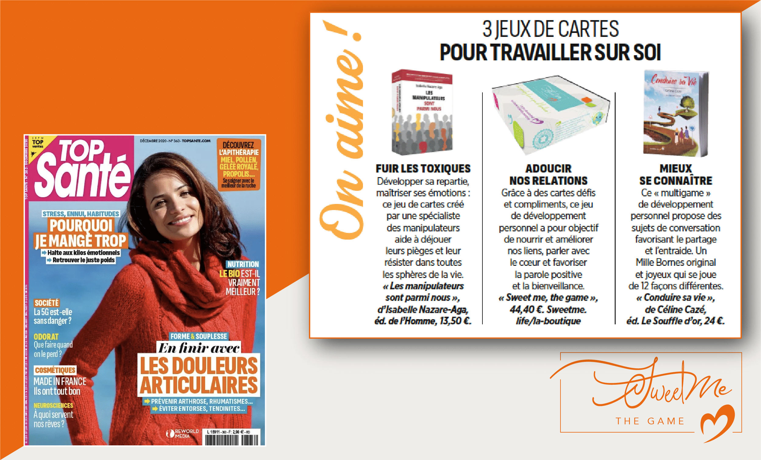 Le magazine Top Santé parle de Sweet Me® the Game !