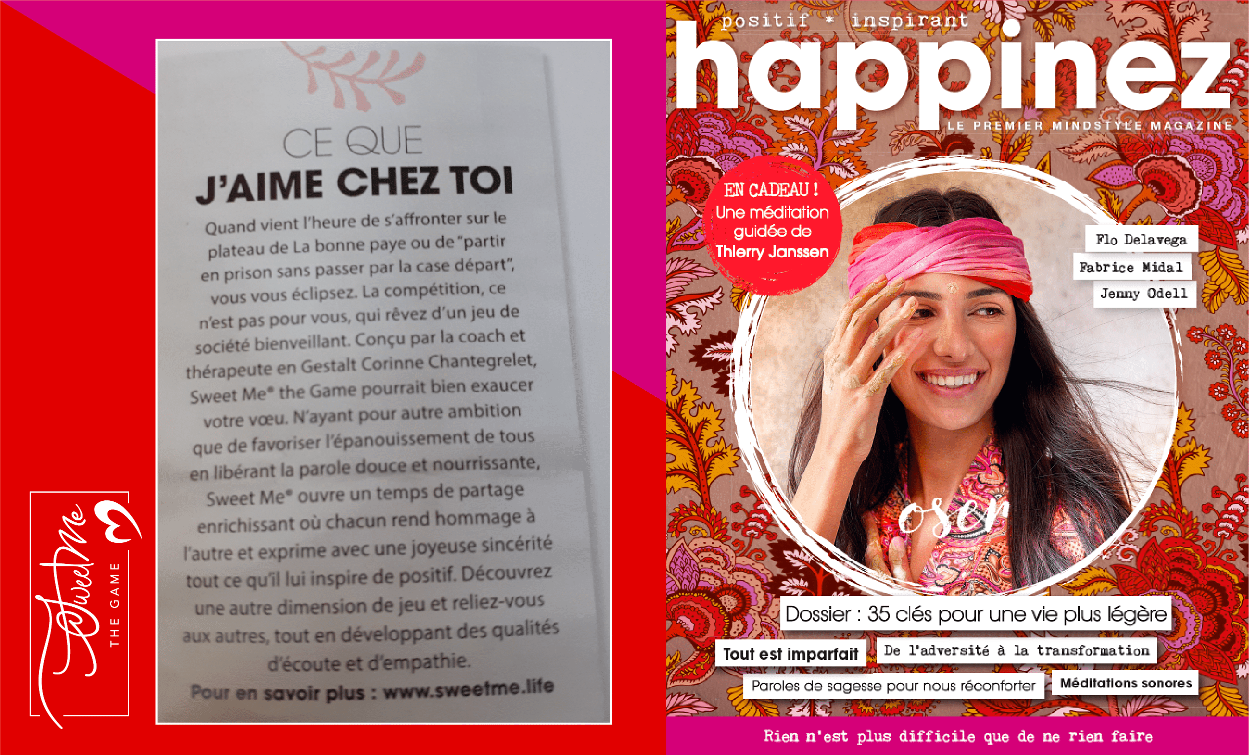 Le magazine Happinez Magazine parle de Sweet Me® the Game !